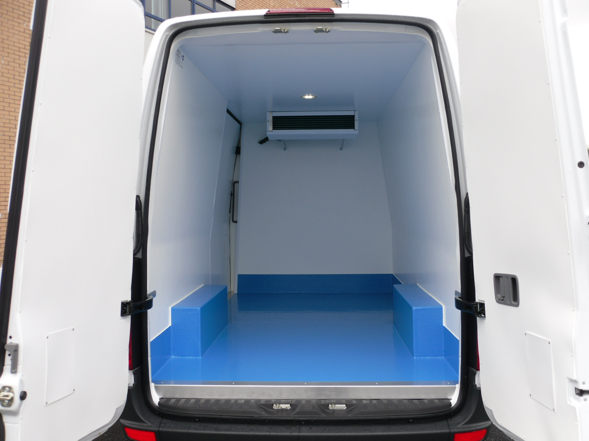 Wet Floor in a fridge van